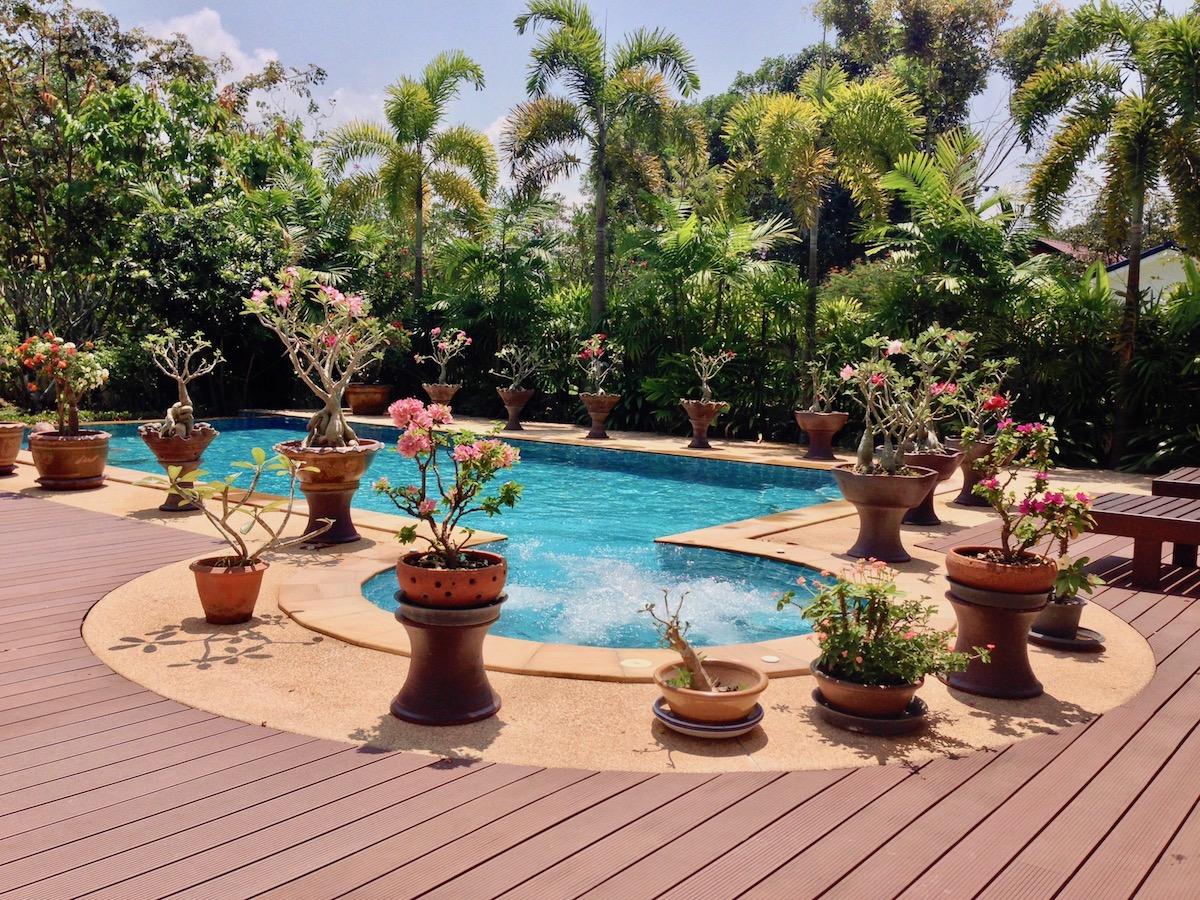 Le jardin et la piscine baan leelavadee for Jardin et piscine